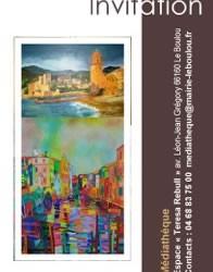 Exposició de pintura a la Mediateca del Voló. el 12 de maig de 2016